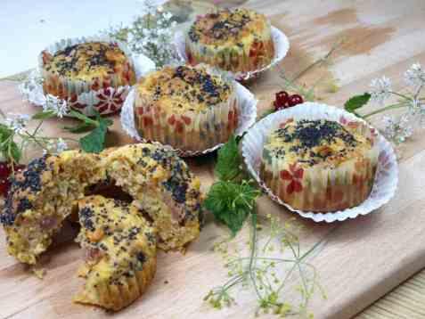 Våre beste gulrotmuffins med skinke oppskrift.