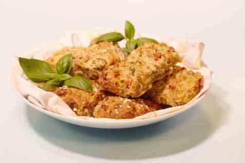 Grove scones med grønnsaker oppskrift.