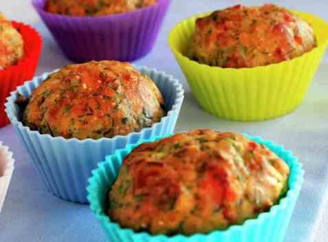 Matmuffins med grønnsaker oppskrift.
