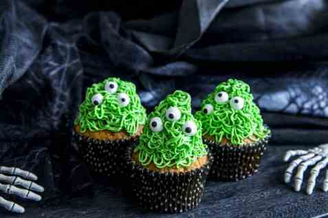 Monstercupcakes oppskrift.