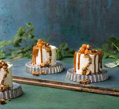 Bløtkake med multer og karamell oppskrift.