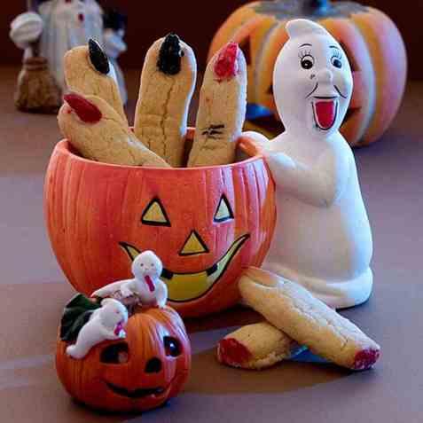Fingrer til halloween oppskrift.