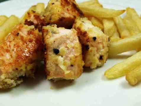 Fish and chips med laks oppskrift.