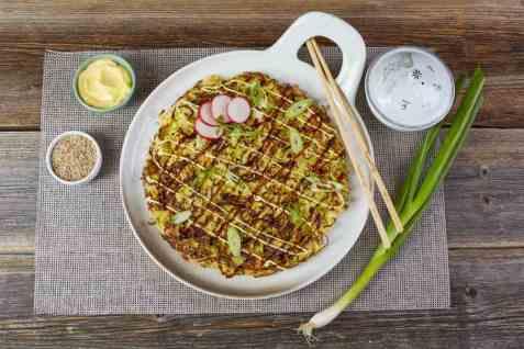 Okonomiyaki oppskrift.