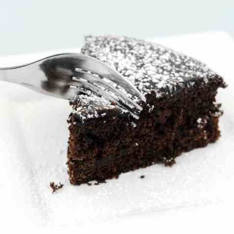 Saftig sjokoladekake med sukrin oppskrift.
