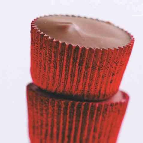 Fylt sjokolade med karamell oppskrift.