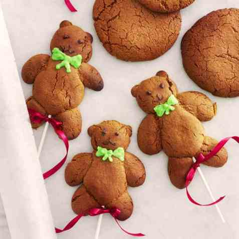 Teddybjørnpepperkaker oppskrift.
