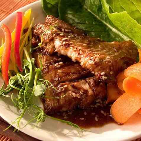 Saengsonguni, grillet fisk oppskrift.