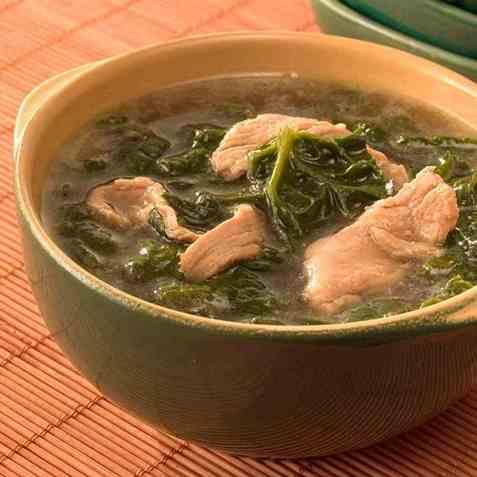 Shikumchiguk, spinatsuppe oppskrift.