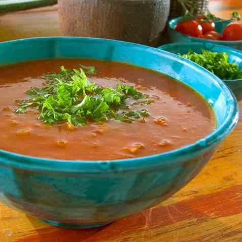 Marokkansk tomatsuppe oppskrift.