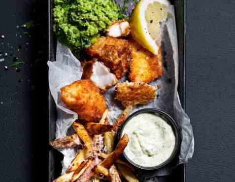 Crunchy fish fingers oppskrift.
