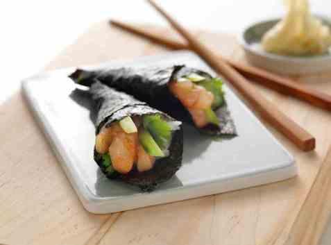 Temaki sushi med sei oppskrift.