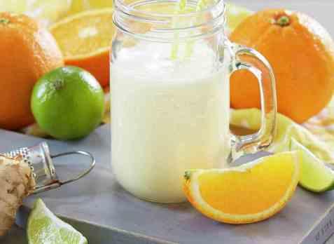 Appelsinsmoothie med yoghurt oppskrift.