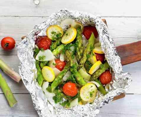Grønnsaker i folie oppskrift.