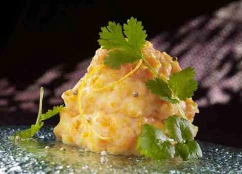 Potetmos med gulrot og appelsin oppskrift.