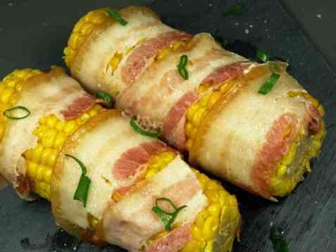 Grillet mais med bacon oppskrift.
