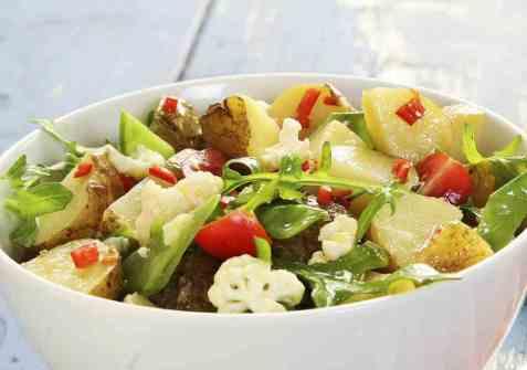 Sommerlig potetsalat oppskrift.