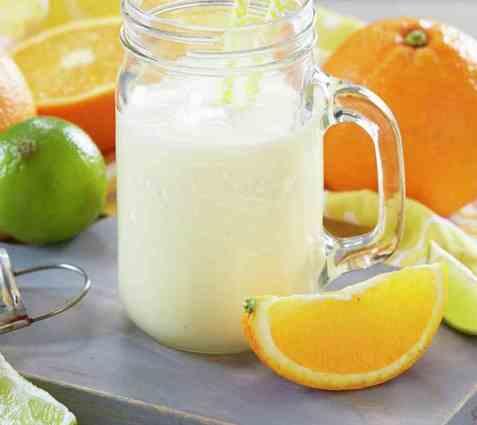 Appelsinsmoothie med ingefær oppskrift.