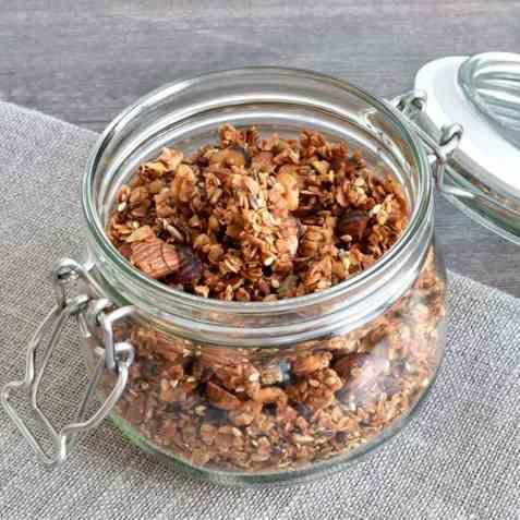 Glutenfri granola oppskrift.