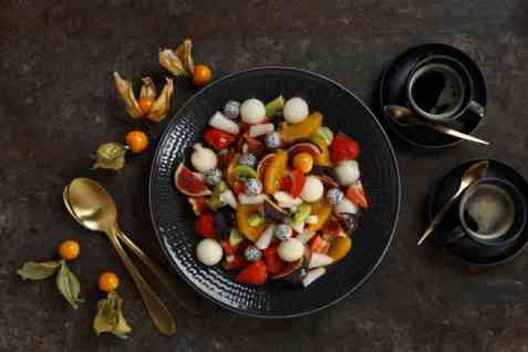 Julens fargerike fruktsalat oppskrift.
