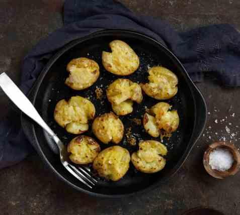 Knuste poteter oppskrift.