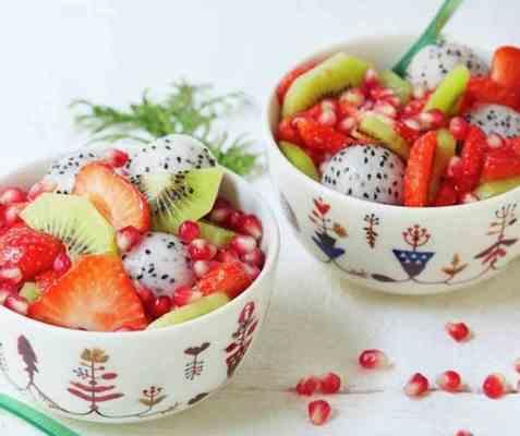 Nissens fruktsalat oppskrift.