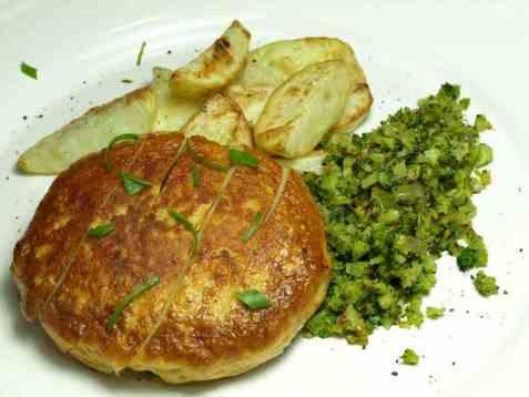Chilifiskeburger med brokkoliris oppskrift.