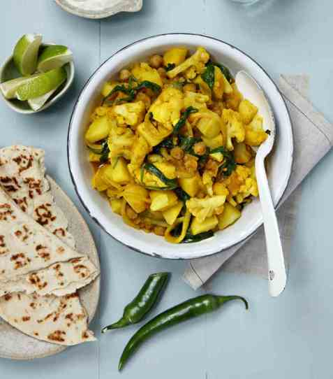 Indisk blomkål-curry oppskrift.