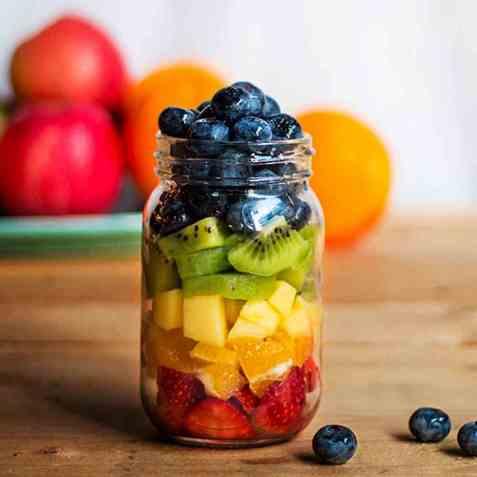 Fruktsalat 3x4 oppskrift.