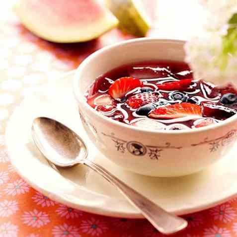 Sommergazpacho oppskrift.