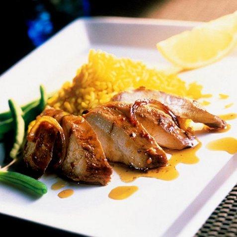 Krydret kylling med safranris oppskrift.