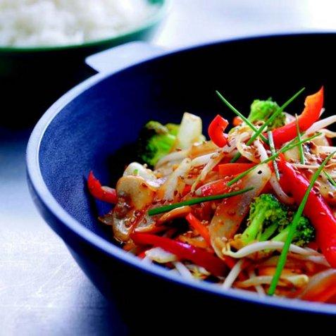 Lynstekte grønnsaker oppskrift.