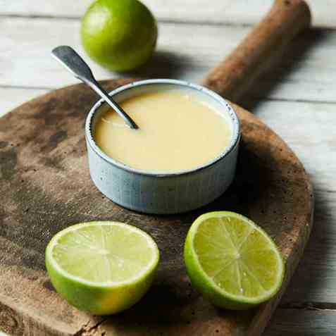 Lime- og gløggcurd oppskrift.