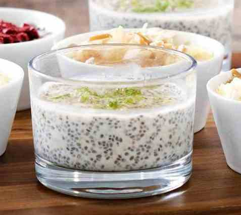 Key lime overnight oats med Chia oppskrift.