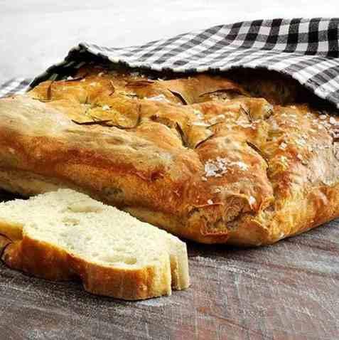 Focaccia brød oppskrift.