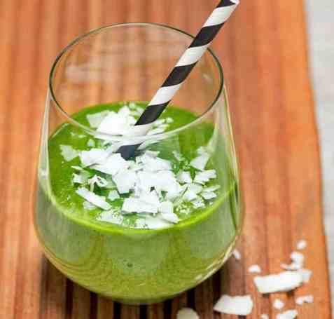 Grønn smoothie oppskrift.