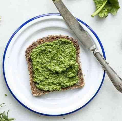 Skive med grønn pesto oppskrift.