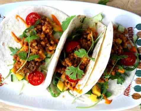 Taco med byggryn oppskrift.