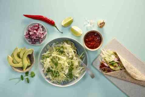 Enkel kålsalat til taco oppskrift.