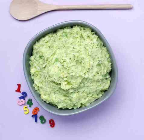 Potetmos med brokkoli oppskrift.