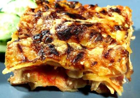 Rask lasagne oppskrift.