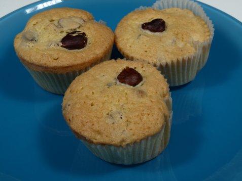 Muffins med tørket frukt oppskrift.