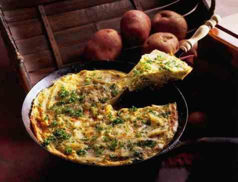 Tortilla espanòl - potetomelett oppskrift.