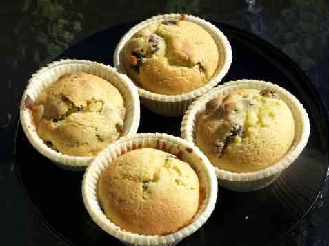Muffins med rosiner oppskrift.