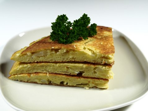 Potetomelett (Tortilla de patata) oppskrift.