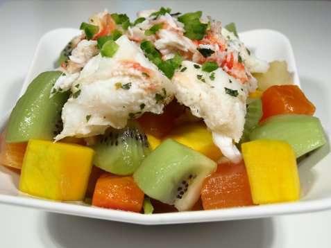 Bilde av Tropisk krabbesalat.