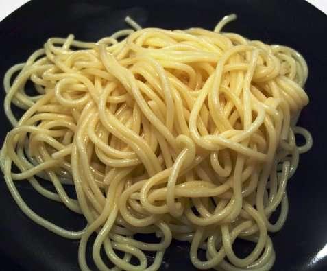 Kokt spaghetti oppskrift.