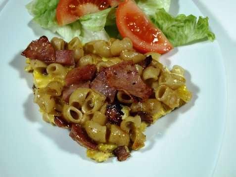 Bilde av Omelett med makaroni.