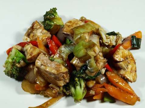 Steinbit i wok oppskrift.
