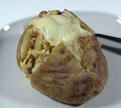 Fylte ovnsbakte poteter oppskrift.